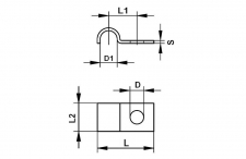 Hose clamps one-sided